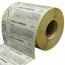 Generic Medical Identification Labels with Rx Symbol, Herb Stickers, 1000Pk
