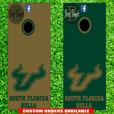 South Florida Bulls Corn hole Set of 6 Vinyl Decal Stickers cornhole decals toss