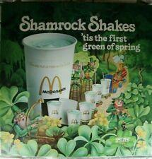 Vintage McDonald's 1979 St Patrick Shamrock Shake Advertising Light Display Sign