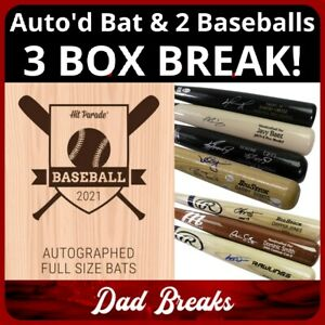 DETROIT TIGERS MLB Hit Parade Signed Bat + 2 TriStar Baseball: 3 BOX BREAK