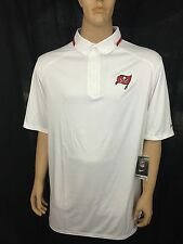 $95 Nike Mens NFL Tampa Bay Buccaneers Sideline Coach Polo Shirt White SZ 4XL-T