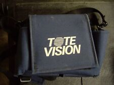 "Tote Vision 4"" Color Portable LCD Monitor Screen LCD410 with Blue Carrying Case"