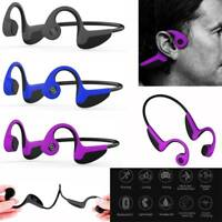 Bone Conduction Bluetooth Wireless Headphone Headset Earphone for Samsung iPhone