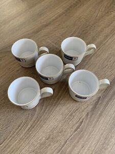 Rare Denby 'Natural Canvas' Cream Set of 5 -Five Espresso Cup Mug Dinner Service