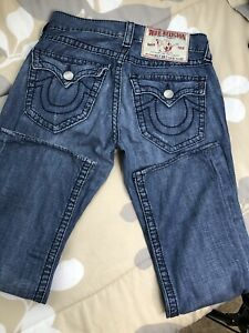 True Religion Billy Big T Blue Denim Jeans USA Mens Sz 34 x 29