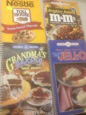 Lot Of 4 Cookbooks Nestle Jello M&M's Grandma Baking Cook Book Pictures