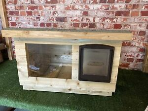Small Cat Kennel / Shelter ~ Dog House with window  DELIVERED FULLY ASSEMBLED