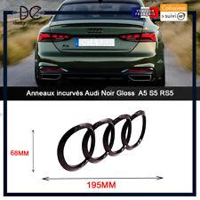 Anneaux incurvés Audi noir brillant A5 S5 RS5 emblème coffre arrière Sportback E