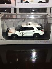 1/43 First Response California Highway Patrol CHP Ford Utility White Diecast Car
