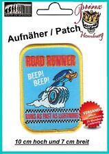 ROAD RUNNER II -  Patch Aufnäher Biker Nascar Vintage Hot Rod Old School Racing