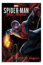 """Spider-Man Miles Morales Be Greater Be Yourself Poster Official Licensed 24x36"""""""