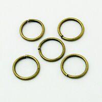 50 Anneaux de jonction Bronze 10 mm ouvert 10mm creation bijoux, bracelet, 10mm
