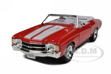 1971 CHEVROLET CHEVELLE SS 454  CONVERTIBLE ORANGE 1/24 DIECAST CAR WELLY 22089