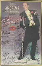 Julie Andrews & Actors Cast Signed  Poster Victor/Victoria Musical COA JSA
