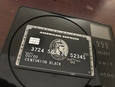 American Express Black Centurion /Prank Metal! Custom YOUR NANE HERE