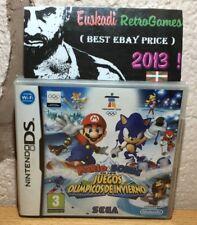 Mario & Sonic En los Juegos Olímpicos de Invierno / Nintendo DS PAL Esp Completo