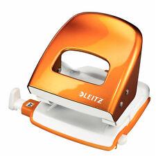 LEITZ 5008-10-44 Bürolocher orange-metallic m. Schiene f. 30 Blatt Locher Metall