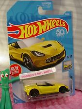 CORVETTE C7 Z06 CONVERTIBLE #98✰Yellow;pr5✰FACTORY FRESH✰2018 Hot Wheels CASE D