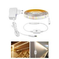 Flexible Touch Switch Sensor LED Strip light Dimmer 2835 Tape Lamp US/EU Adapter