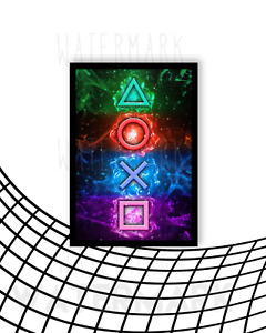 Playstation Poster / Wall Print Various Designs A4/A3 Size