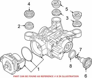 Genuine OEM Drive Axle Shaft Seal for Audi 02D525596F