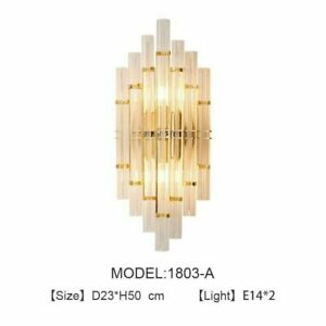 Wall Lamp Indoor Lights Gold LED Bedside Crystal Lighting Perfect For Room Area