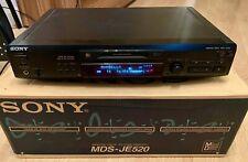 Sony MiniDisc Recorder - MDS-JE520 - Original Box/Remote/Manual - Great Cond