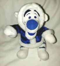 "Disney Winnie the Pooh TIGGER 6"" Special Winter White Blue Plush Hanukah Eskimo"