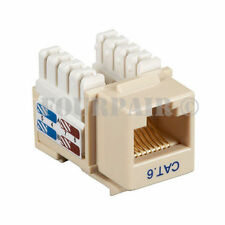 100 Pack Lot - CAT6 Network RJ45 110 Punch Down Keystone Snap-In Jack - Ivory