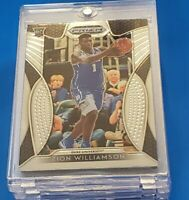 ZION WILLIAMSON ROOKIE CARD PANINI PRIZM DRAFT RC #1  BLUE JERSEY DUKE INVEST