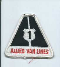 Allied Van Lines #1 mover driver patch triangle 2-1/2 X 2-7/8 #2116