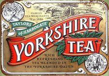Yorkshire tea tin metal sign nostalgic metal rusty replica wall art
