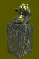 Vienna Bronze PANDA BEAR w/ Gilt Brass Austria Home Deco Sculpture Figure Deal