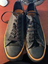 HARLEY DAVIDSON D93811 Size 9 USA Black/Black Canvas Shoes