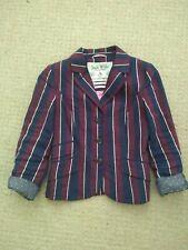 Jack Wills Blazer Stripe Navy Maroon Size 8