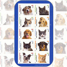 2010  ANIMAL RESCUE  Adopt a Shelter Pet  BLOCK of 10  MINT Stamps  Cat #4451-60