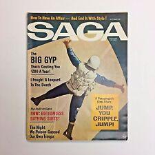 Vintage SAGA Men's Magazine October 1964 Big Gyp Jump You Cripple Skydive