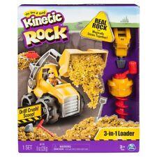 Kinetic Arena Rock 3 en 1 Cargador Play Set Digger Taladro Crush Scoop construir Molde