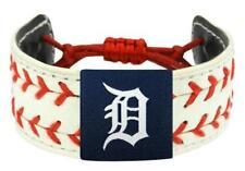 Detroit Tigers 2- Seamer Seam MLB Baseball Leather Bracelet