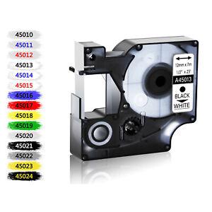Label Tape Cassette Compatible For Dymo D1 Labelmanager 6/9/12/19mm