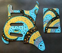 US Fender Stratocaster Strat Guitar Pickguard and Backplate Custom Hand Painted