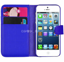 Blue Leather Mobile Phone Cases & Covers for iPhone SE