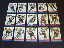 ( BOSTON BRUINS ) 1954-55 Top (15) Card NHL Hockey RP Team Set...nice
