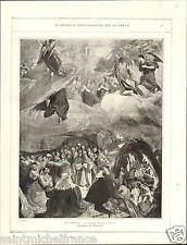 The Holy Alliance Felipe II España / Saint Pierre Escurial El Greco PLANCHE 1906