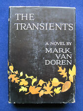 THE TRANSIENTS by MARK VAN DOREN - Novel Set in Small New England Village