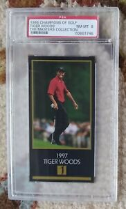 Tiger Woods Rookie RC -- 1998 Champions of Golf Masters Collection -- PSA 8
