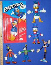 PAPERONE + PAPERINO PIPPO 6 x Walt Disney in flessione personaggi