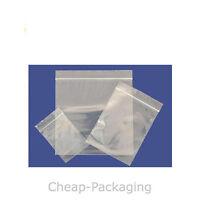 "203x279mm  200g  50 micron 500 Poly Grip Seal Zip Lock Bags 8/"" x 11/"""