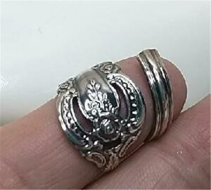 Spoon Ring Oneida Community Silver Artistry Silverplate Flatware Hand Crafted