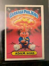 1985 Topps Garbage Pail Kids #8A ADAM BOMB (MATTE)........EX++
